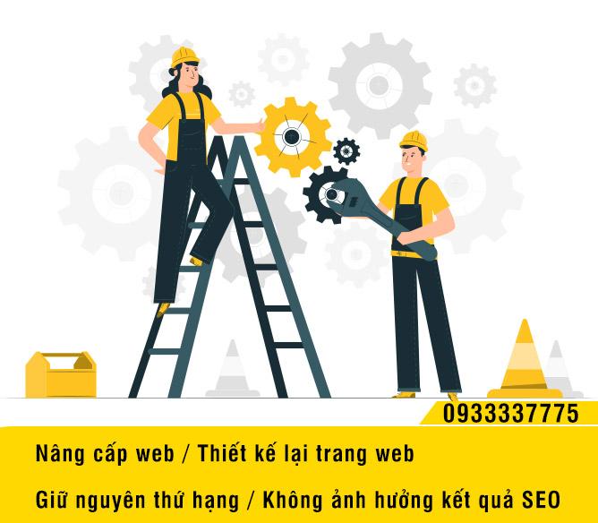 Nâng cấp web không ảnh hưởng thứ hạng Seo google